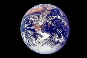 The famous 'blue marble' photo taken by Apollo 17 in 1972, shows ...