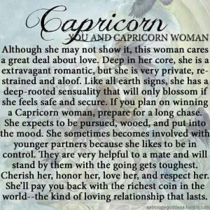 The love of a Capricorn woman