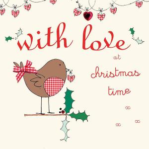 Love Christmas Cards Handmade with love christmas