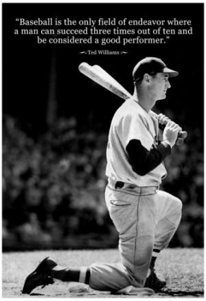 Ted Williams Baseball Famous Quote Archival Photo Poster ポスター