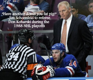 Nhl Hockey Quotes Referee New York Rangers Coaches 1988 Picture