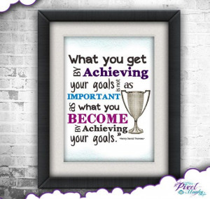 Achieving Goals Quote by Henry David Thoreau by PixelMunky on Etsy, $5 ...