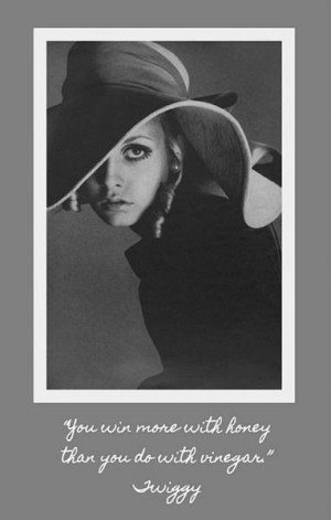 Love you miss twiggy just gorgeous in that hat