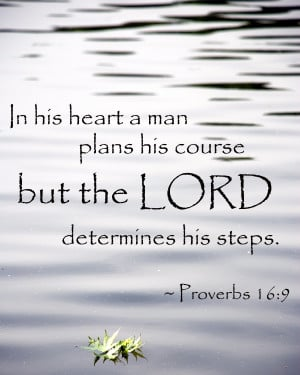 ... Man Plans His Course But The Lord Determines His Steps. ~ Bible Quote