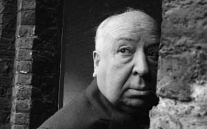British film director Alfred Hitchcock (1899 - 1980) in Cambridge in ...