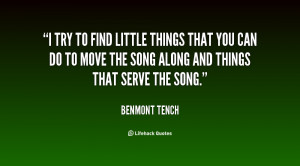 quote Benmont Tench i try to find little things that 33518.png