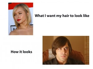 remember now why I hate getting hair cuts