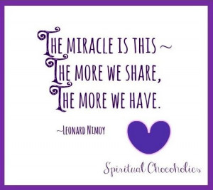 christmas quotes about giving and sharing   ... more we share, the ...