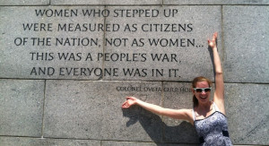 Yours truly at the WWII monument in Washtington, DC