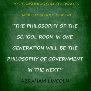 "... will be the philosophy of government in the next."" Abraham Lincoln"