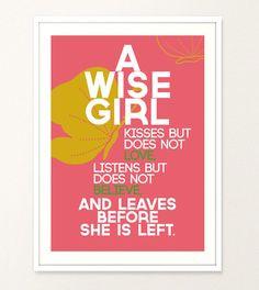 Girl Bedroom Quote Women Quote Typography by LeftAloneSullenGirl, € ...