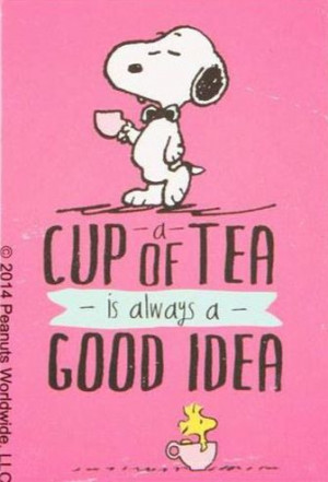 Cup of Tea #snoopy ♡ see more cartoon pics at www ...