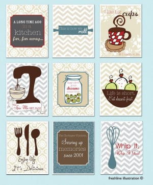 ... - Mixer, Monogram, Salt and Pepper, Utensils - Funny Kitchen Quote