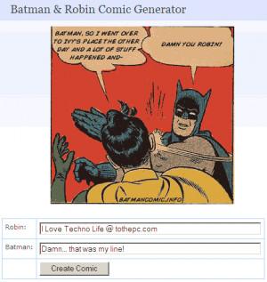 Batman & Robin Comic image generator