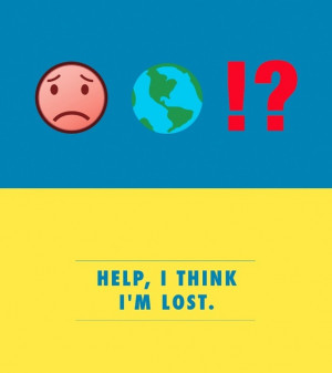Help, i think i'm lost'. Emoji flashcards to help brits abroad break ...