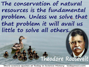 "Theodore Roosevelt quote ""The conservation of natural resources is ..."