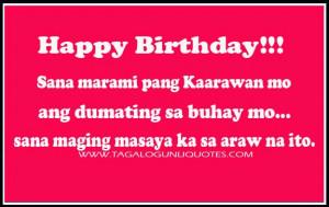 Tagalog Birthday Quote