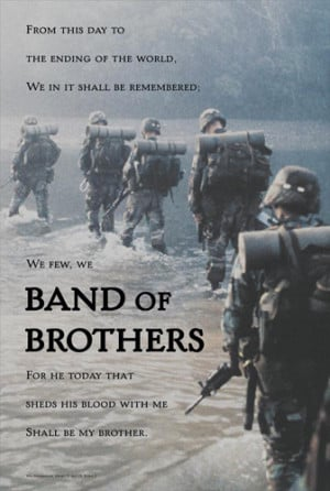Army Infantry BAND OF BROTHERS Inspirational Poster (Shakespeare ...