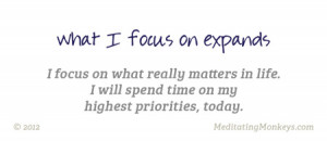 what matters most focus quotes