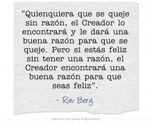 Rav Berg.Quote, Rav Berg