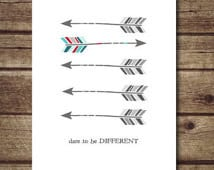 ... quote print, nursery decor, INSTANT DOWNLOAD - Dare to be different