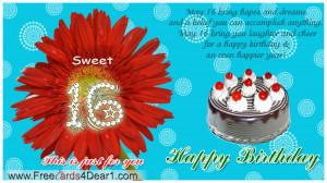 Happy Sweet 16 Birthday Quotes Special happy birthday