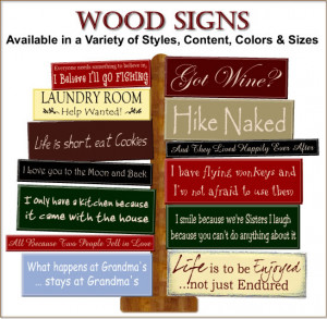 Wood Signs with Quotes for Home or Office