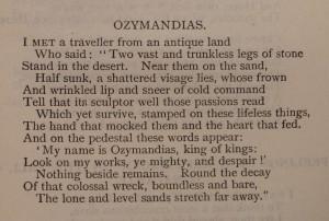Shelley, 'Ozymandias' via the British Library Board.