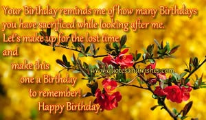 Beautiful Birthday wishes for Mother, Happy Birthday quotes for Mom ...