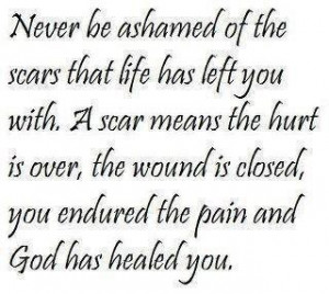 God has healed your pain