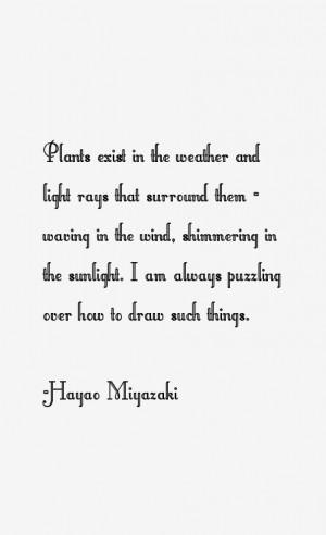 Hayao Miyazaki Quotes & Sayings