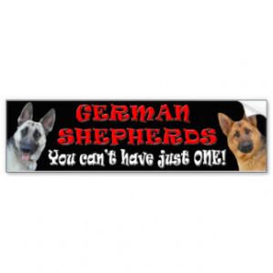Cute German Shepherd Bumper Sticker Car Bumper Sticker