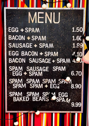 Monty Python's snack bar menu is a thing of beauty