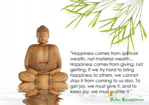 happiness comes from spiritual wealth not material wealth