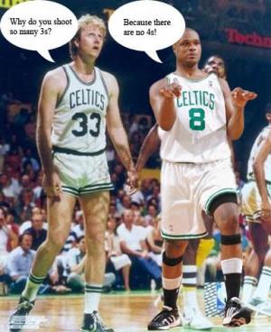 Antoine Walker and Larry Bird Boston Celtics Image