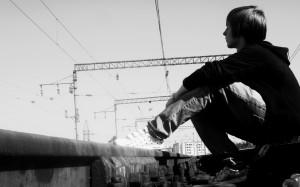 Emo Alone Boy