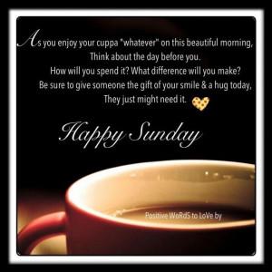 Happy Sunday Morning Quote