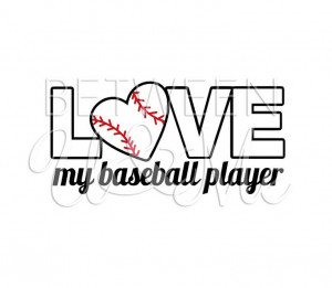 Love My Baseball Player T-Ball Little League Sports Mom Dad Support ...