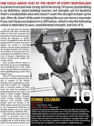 Thread: RONNIE TOP TEN STRONGEST MAN OF ALL-TIME