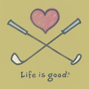 Women's Love To Golf Short Sleeve Tee|Life is good