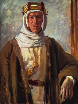 Col T E Lawrence, 1919 (detail), Augustus John, Oil on canvas 80 x 59 ...