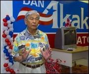 ... Ed Case yesterday at U.S. Sen. Daniel Akaka's campaign headquarters