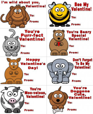 Print out the Valentine's Day cards on cardstock or regular printer ...