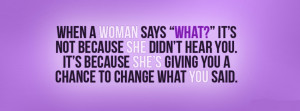Woman Quotes Facebook Cover