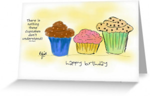 ... › Portfolio › Cupcake Quote Illustration Birthday Wish