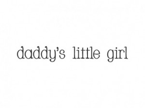 Daddy's little girl vinyl letter design.