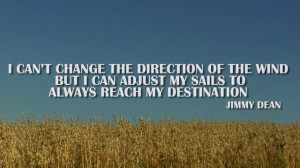 Silent Journey Inspirational Quote by Jimmy Dean