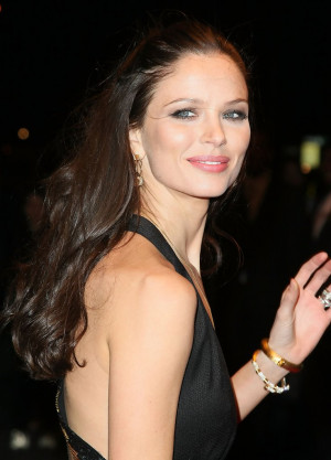 ... beautiful dark English fashion designer/model Georgina Chapman
