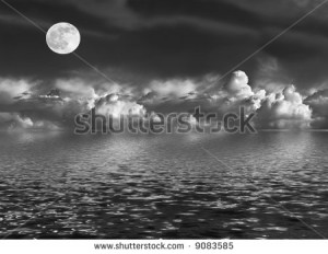 Black And White Image Moon