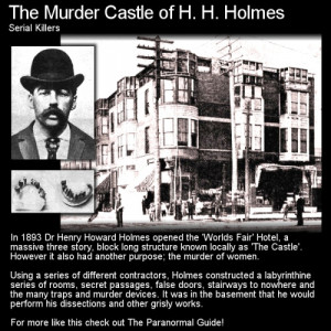 The Murder Castle of H. H. Holmes- Serial Killers - May 8, 1896 Herman ...